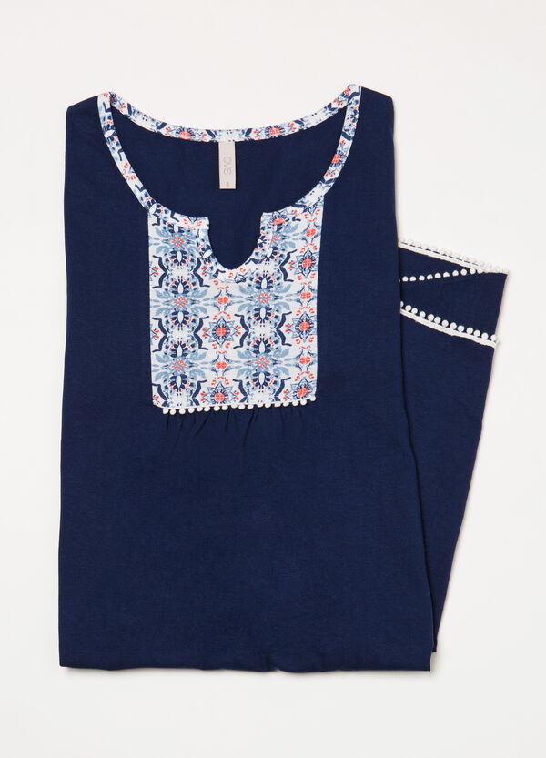 Patterned cotton nightshirt | OVS