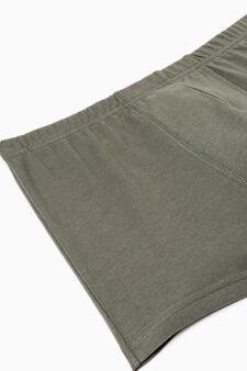 Boxer cotone con vita elasticata, Verde, hi-res