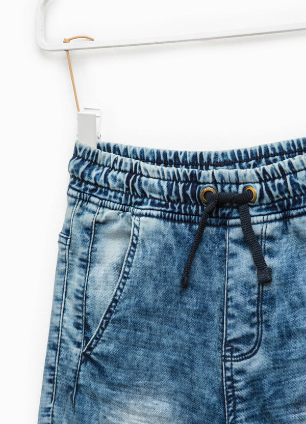 Cotton Bermuda shorts with elasticated waistband | OVS