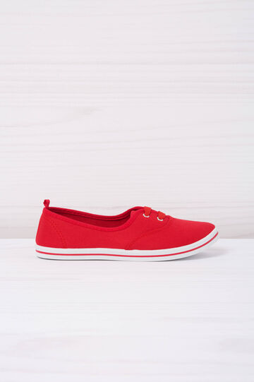 Slip-ons with laces, Raspberry, hi-res