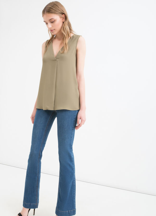 V-neck sleeveless blouse | OVS