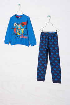 Cotton pyjamas with Superman print, Multicolour, hi-res