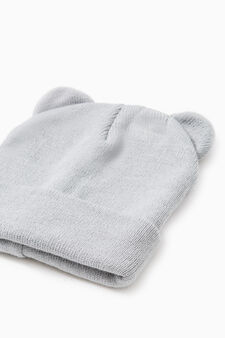 Beanie cap with ears, Light Grey, hi-res