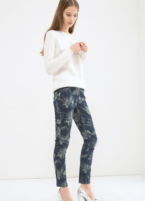 Jeggings stretch fantasia fiori | OVS