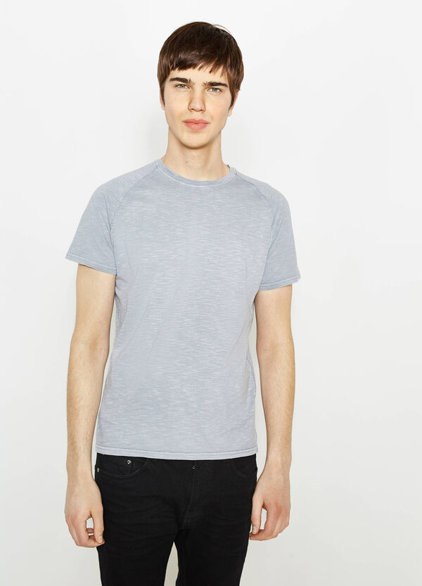 Cotton T-shirt with raglan sleeves | OVS