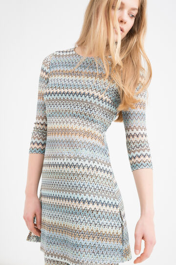 Stretch printed tunic dress, Multicolour, hi-res