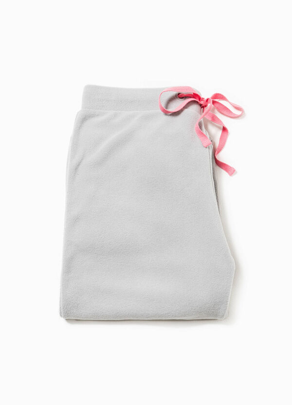 Solid colour pyjama trousers in fleece | OVS