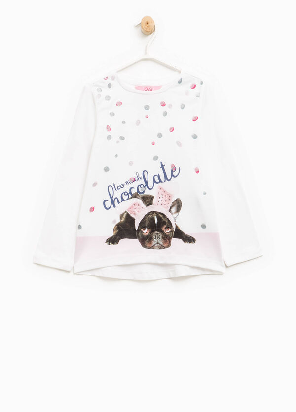 Camiseta con estampado grande con purpurina | OVS