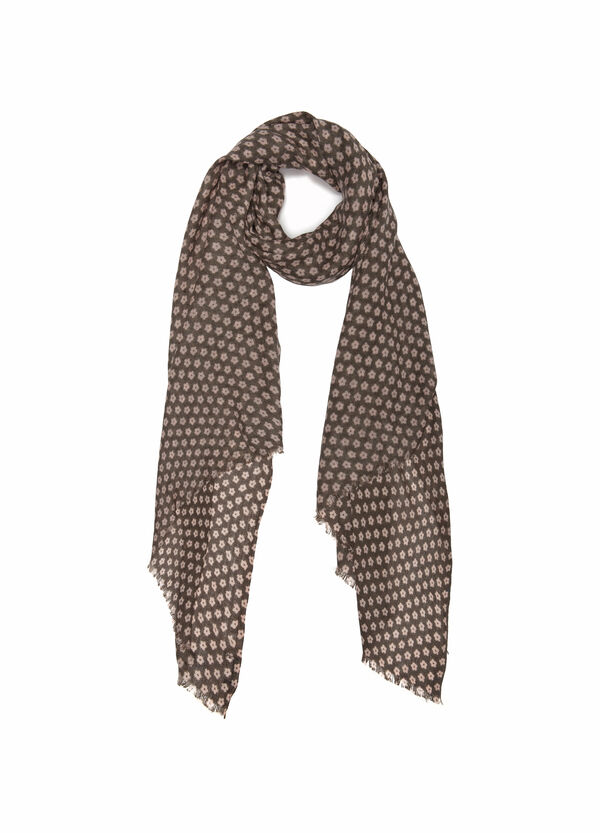 Solid colour printed scarf | OVS