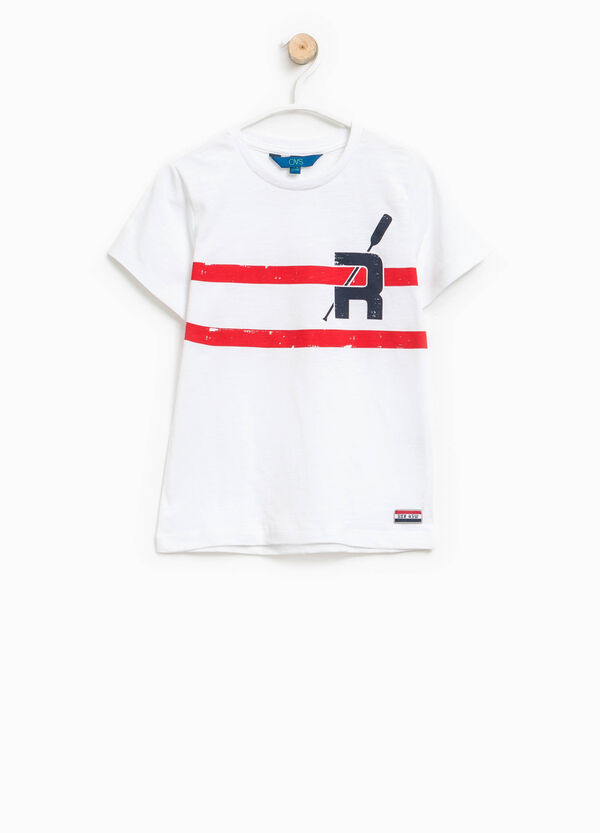Printed T-shirt with patch | OVS