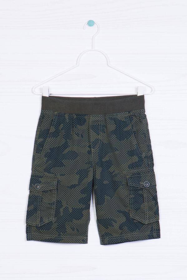 Camouflage pattern Bermuda shorts   OVS