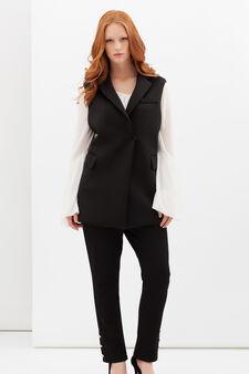 Curvyglam waistcoat, Black, hi-res