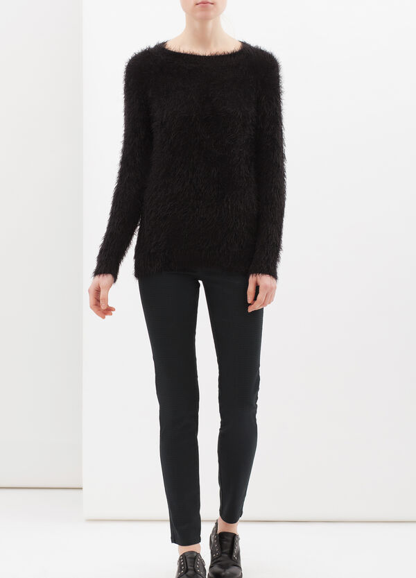 Printed leggings in stretch cotton | OVS