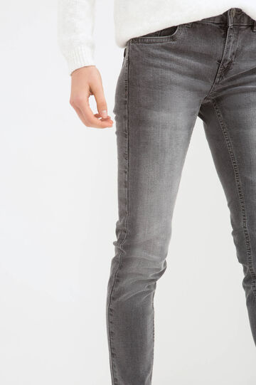 Jeans stretch skinny fit, Grigio, hi-res