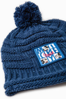 Mickey Mouse beanie cap, Navy Blue, hi-res