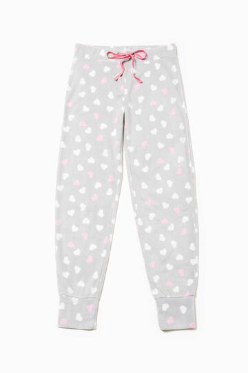Printed pyjama trousers with hearts