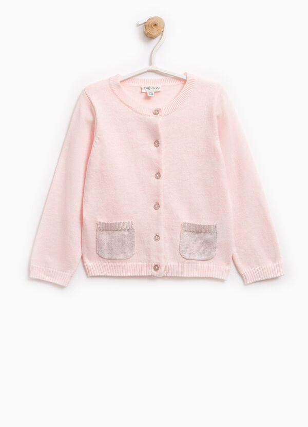 Knitted cardigan with two pockets | OVS