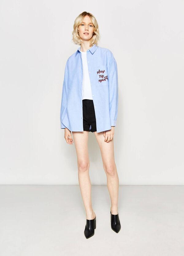 Camisa larga en algodón 100% | OVS