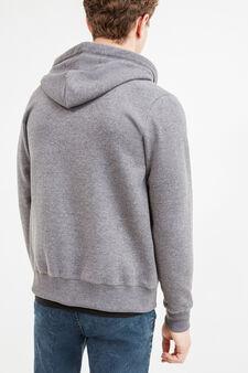 Cotton hoodie, Grey Marl, hi-res