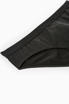 Five-pack solid colour stretch briefs, Black, hi-res