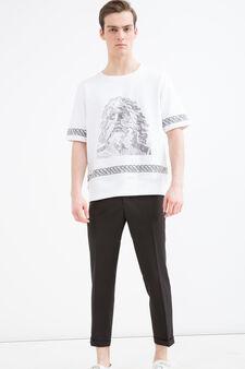 Sweatshirt OVS Arts of Italy, Seasons Mosaic, White, hi-res