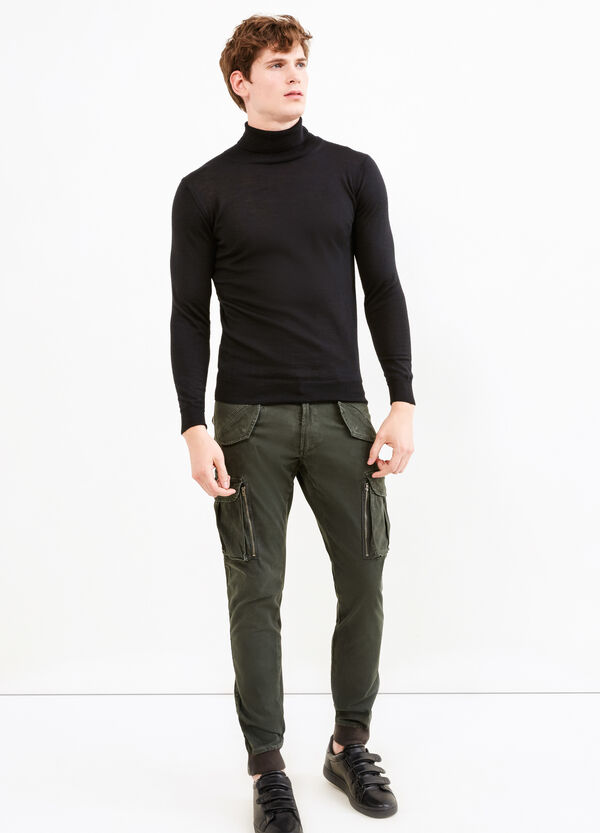 Cargo pants with ankle zips | OVS