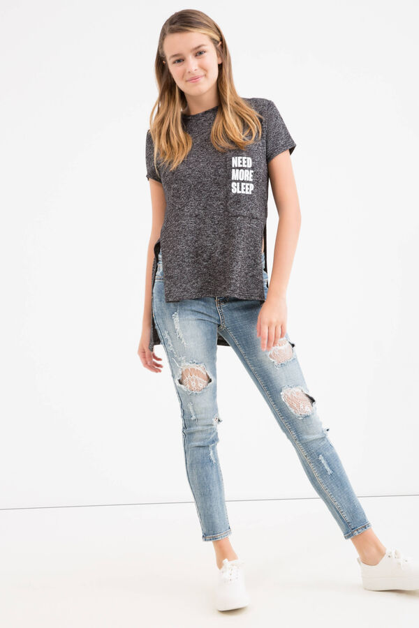 T-shirt viscosa stretch lettering Teen | OVS