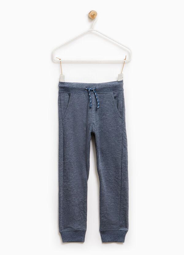 Pantalón de chándal de algodón con canalé | OVS