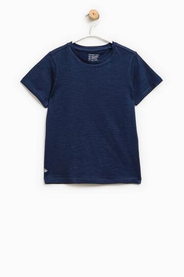 100% cotton T-shirt with patch, Ocean Blue, hi-res