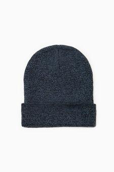 Cappello a cuffia mélange, Nero/Blu, hi-res
