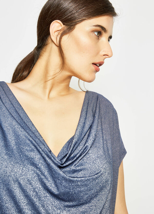Curvy T-shirt with cap sleeves | OVS