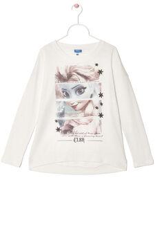 100% cotton T-shirt with Frozen print, Milky White, hi-res