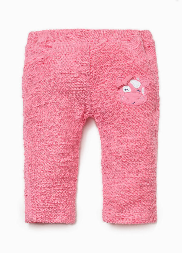 Trousers with animal patch | OVS