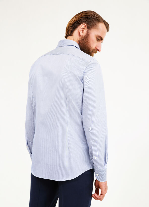 Slim-fit formal shirt with striped pattern | OVS
