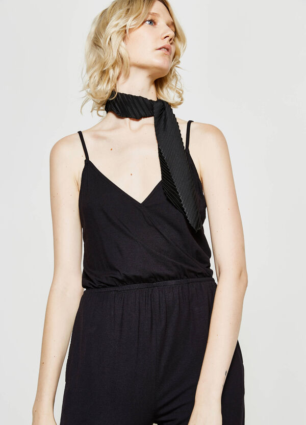 Playsuit with crossover neckline | OVS