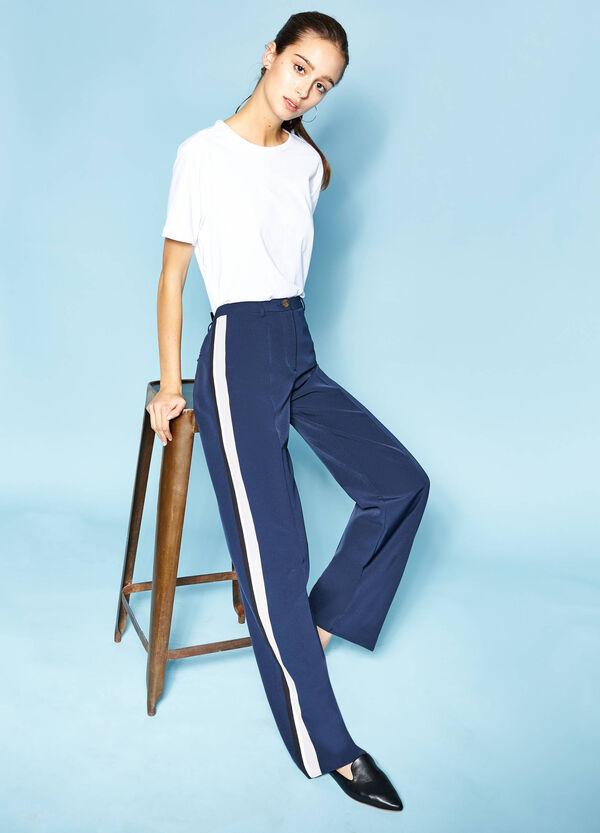 Pantalón de talle alto con cintura y franjas en contraste | OVS