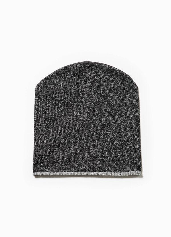 Mélange cotton beanie cap | OVS