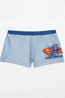 Superman stretch swim boxer shorts, Grey, hi-res