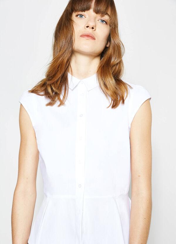 Camicia in cotone plissettata | OVS