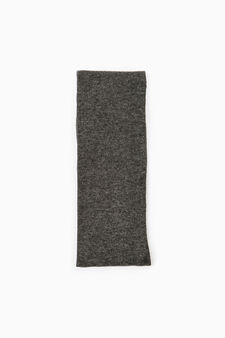 Solid colour long socks, Grey Marl, hi-res