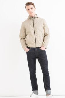 Hooded jacket, Beige, hi-res