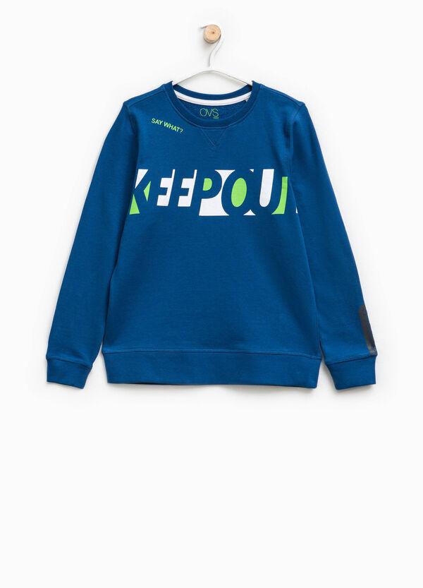 100% cotton printed sweatshirt | OVS
