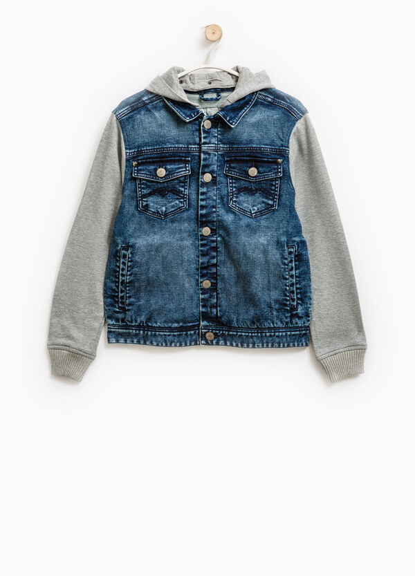 Denim jacket with hood | OVS