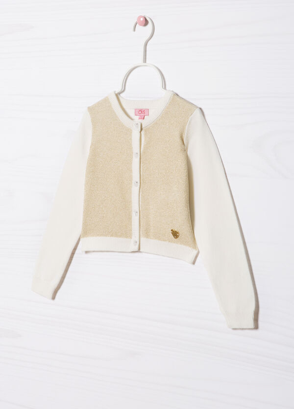 Cotton blend knit cardigan | OVS