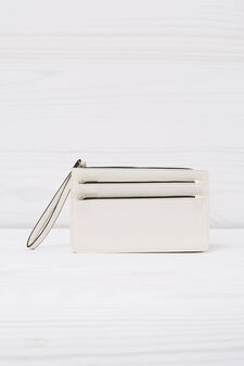 Wallet with three compartments, White, hi-res