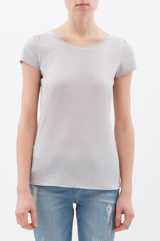 T-shirt with round neck, Grey Marl, hi-res