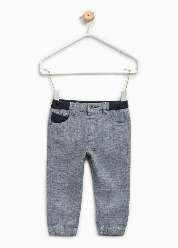 Pantaloni in cotone e lino mélange | OVS
