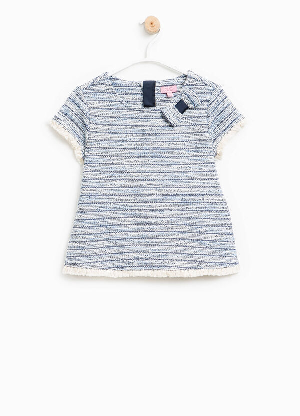 Striped knitted T-shirt | OVS