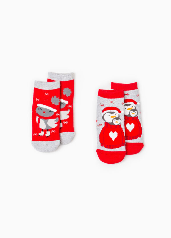 Set due paia di calze antiscivolo natalizie | OVS