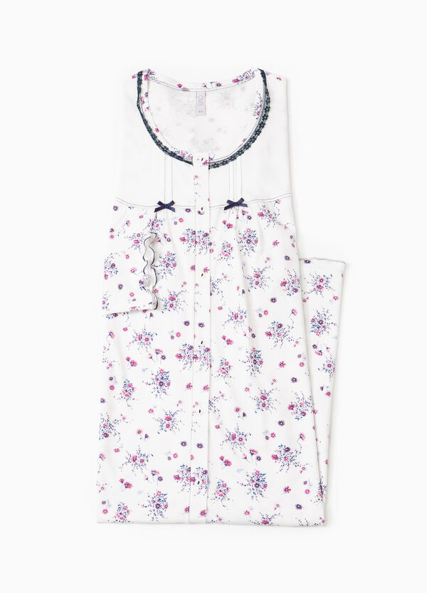 Floral nightshirt with bows | OVS